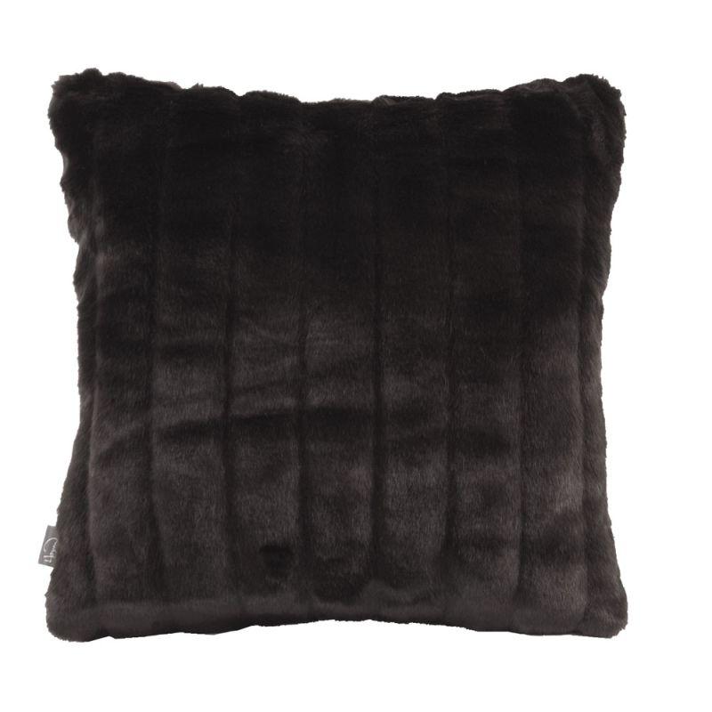 Howard Elliott 1-286 16 X 16 Square Pillow Mink Black Home Decor