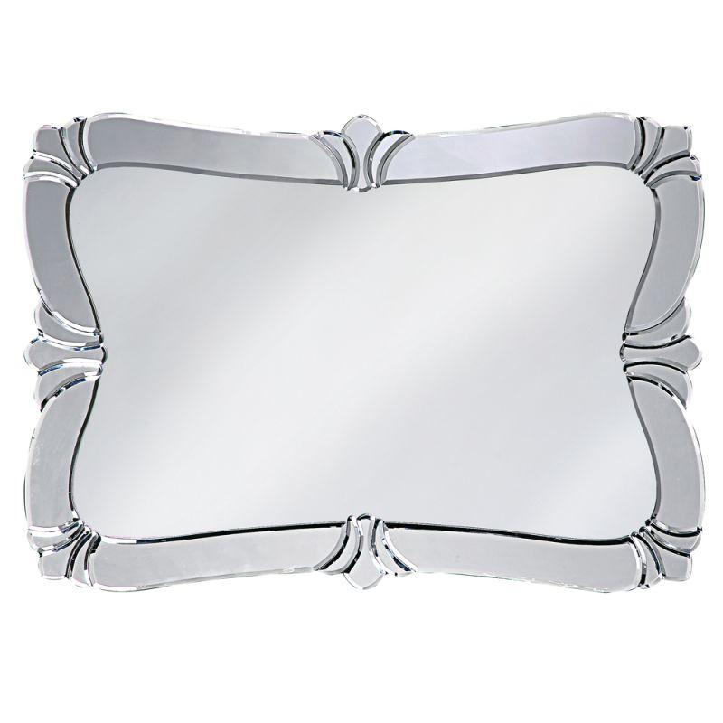 "Howard Elliott 11009 Messina 31"" x 21"" Fleur de Lis Mirror Silver Home"