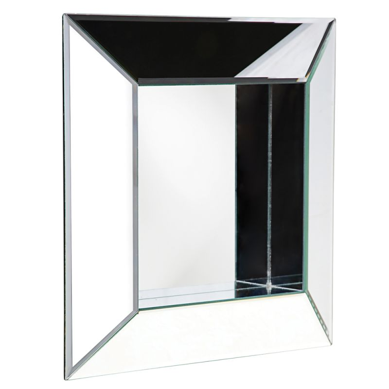 "Howard Elliott 11034 Amalfi 20"" x 20"" Contemporary Square Mirror Clear"