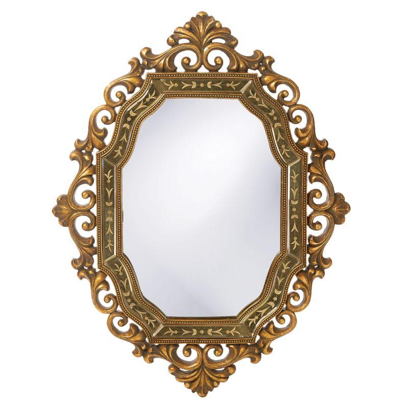 "Howard Elliott 11059 Ariana 40"" x 30"" Gold Mirror Gold Home Decor"