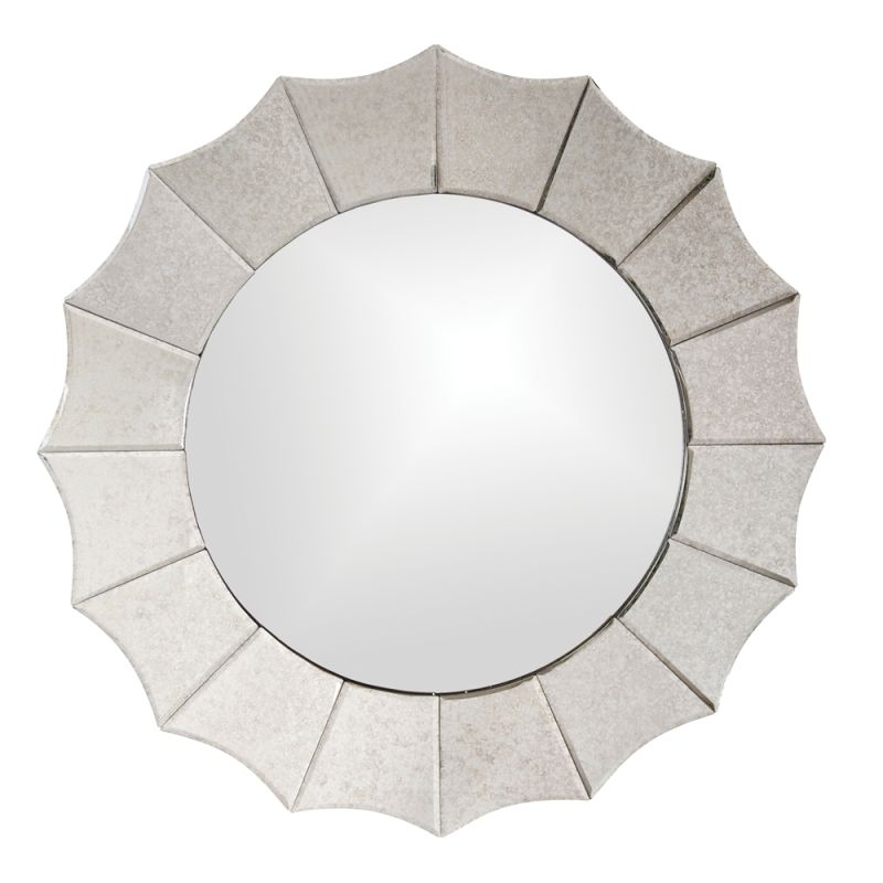 "Howard Elliott 11070 Rupal 32"" x 32"" Round Mirror Beige Home Decor"
