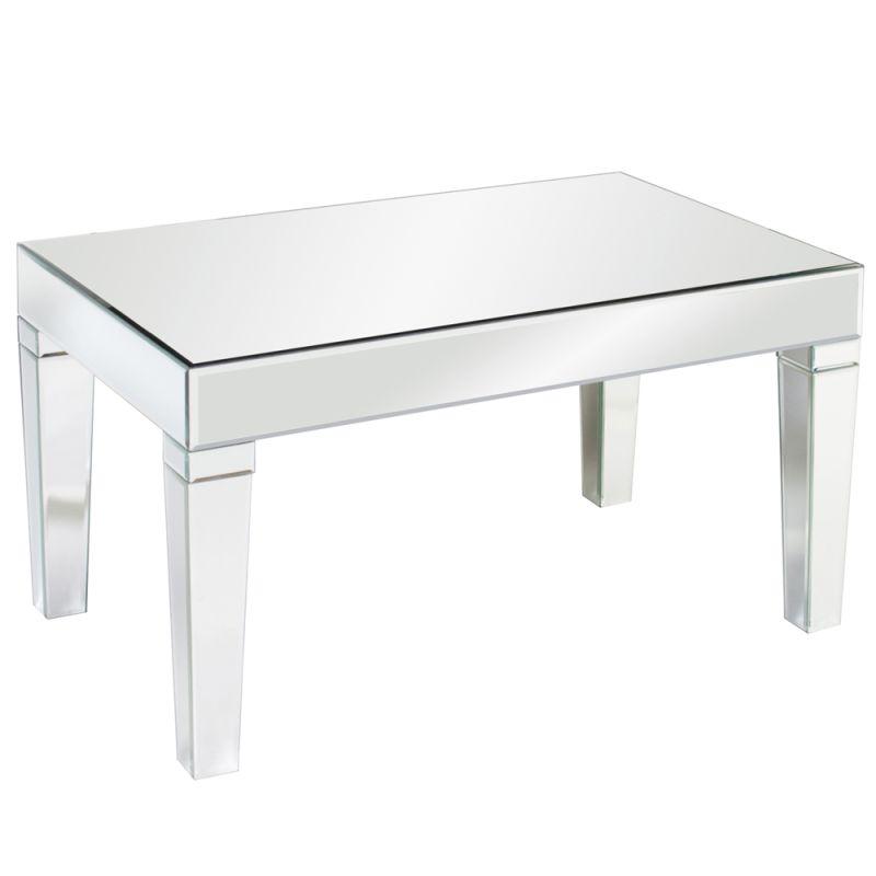 "Howard Elliott Leo Mirrored Coffee Table 36"" Wide Mirrored Glass"
