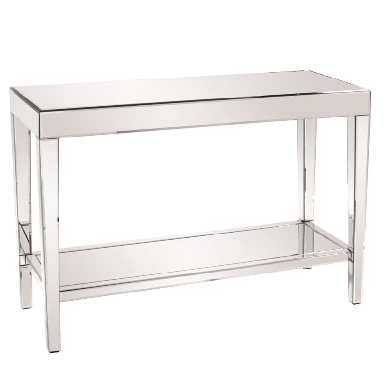 "Howard Elliott Orion Mirrored Console Table with Shelf 44"" Wide"