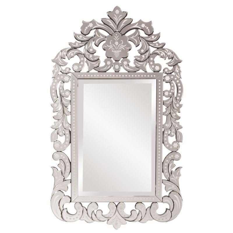 """Howard Elliott 11106 Regina 56"""" x 34"""" Venetian Mirror Clear Home Decor"""