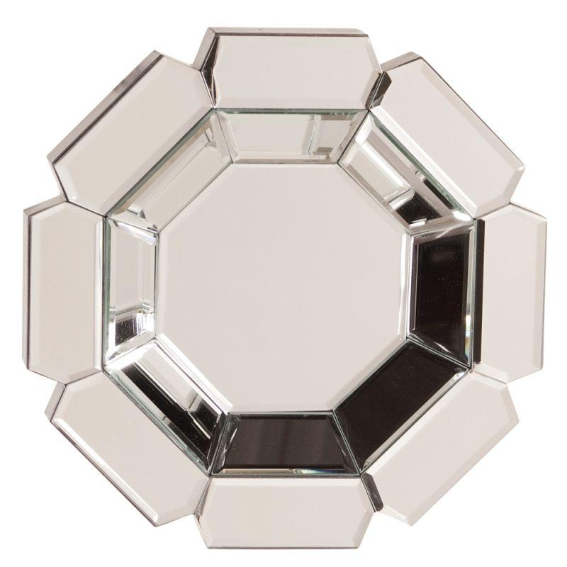 "Howard Elliott 11116 Charisma 14"" x 14"" Octagonal Mirror Clear Home Sale $119.90 ITEM#: 2704606 MODEL# :11116 UPC#: 848635000183 :"