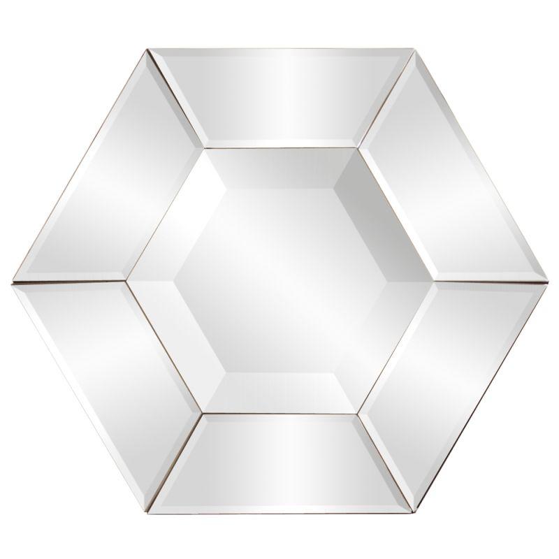 "Howard Elliott 11122 Nexus 12"" x 12"" Hexagonal Mirror Clear Home Decor"