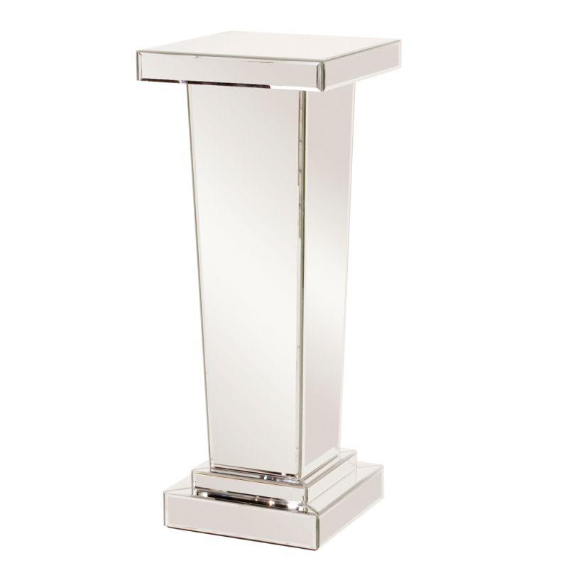"Howard Elliott Carina Tapered Mirrored Pedestal 36"" Tall Mirrored"