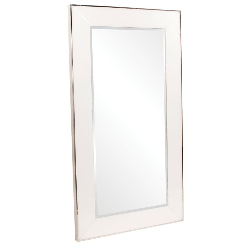 "Howard Elliott 11135 Devon 71"" x 40"" Oversized White Mirror White Home"
