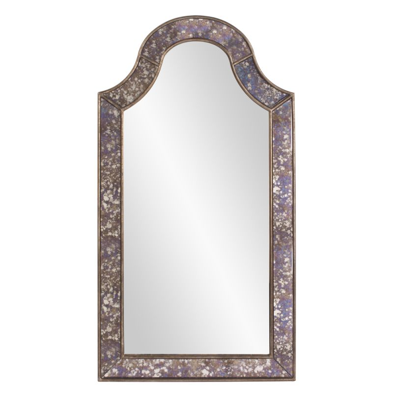 "Howard Elliott 11204 Samuel 56"" x 30"" Arched Mirror Silver Home Decor"