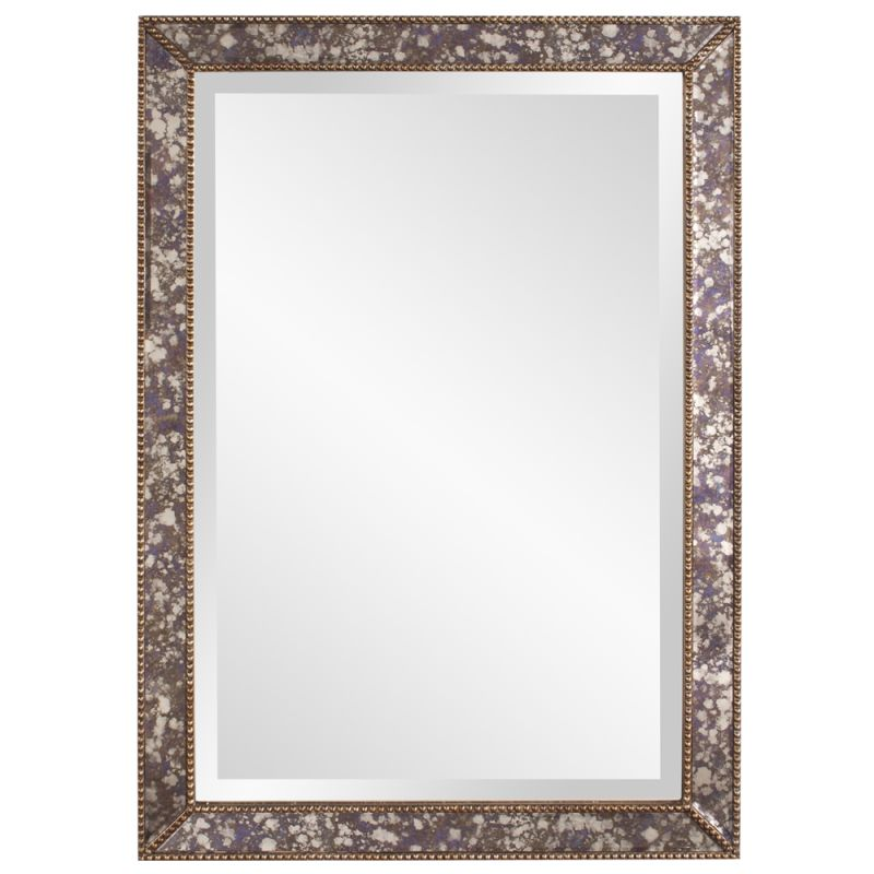 "Howard Elliott 11209 Samuel 34"" x 24"" Rectangular Mirror Silver Home"