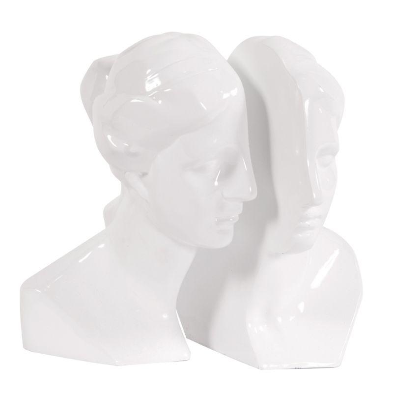 "Howard Elliott Male and Female Bookends 10"" High Ceramic Bookends"