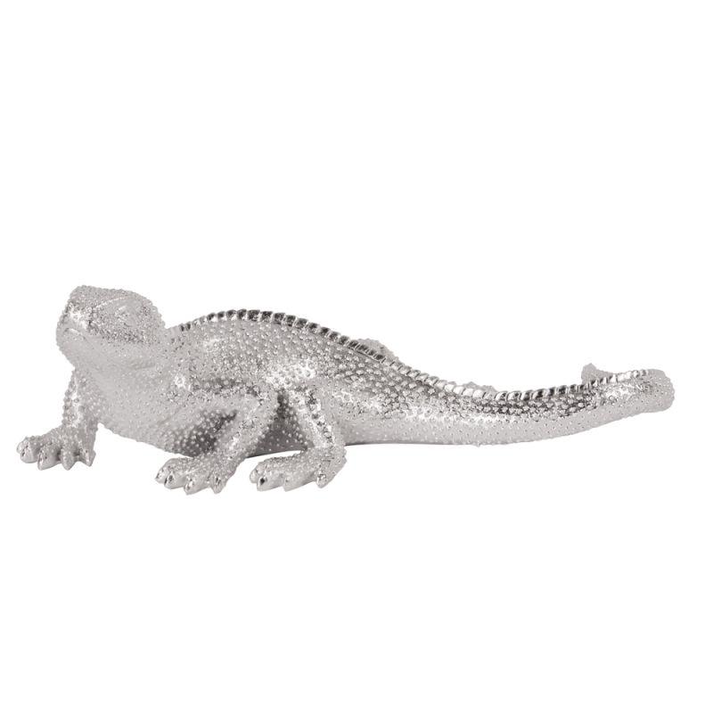 Howard Elliott 12152 Wall Art Lizard Figurine Bright Textured Nickel