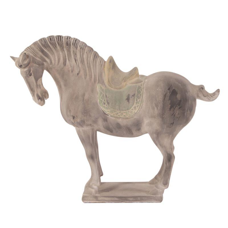 "Howard Elliott Rustic Faux Stone Horse Sculpture 14"" Tall Ceramic"