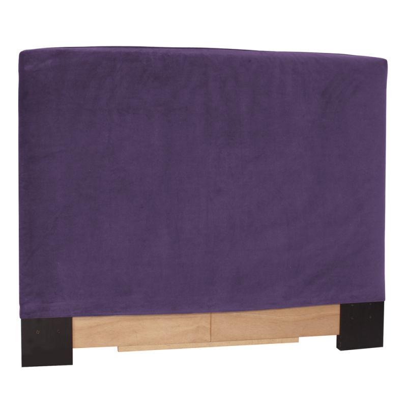 Howard Elliott 122-223 Bella 42 X 48 Twin Headboard Slipcover Eggplant