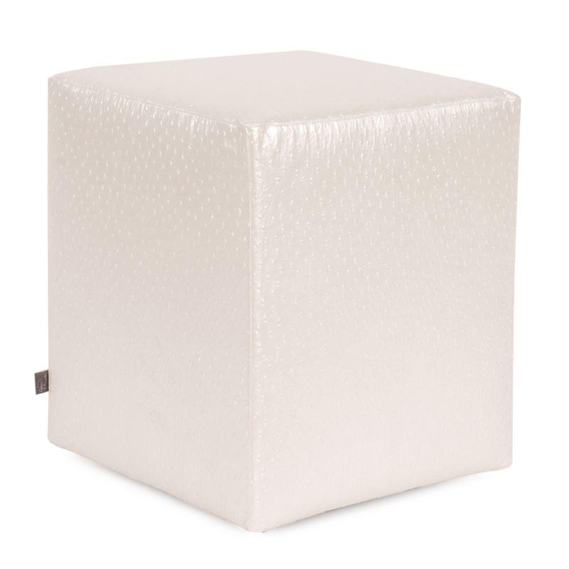 "Howard Elliott Ostrich Universal Cube Ottoman 18"" Square PVC Fabric"
