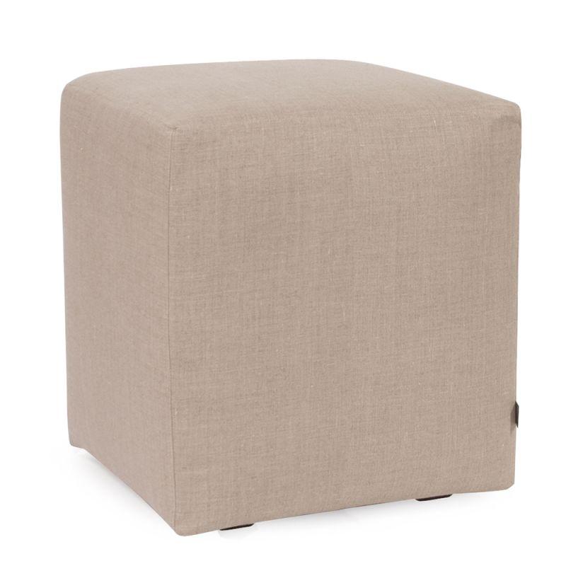 "Howard Elliott Prairie Universal Cube Ottoman 18"" Square Linen"