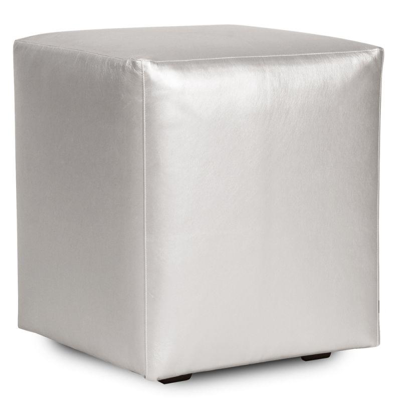 "Howard Elliott Shimmer Universal Cube Ottoman 18"" Square Polyurethane"