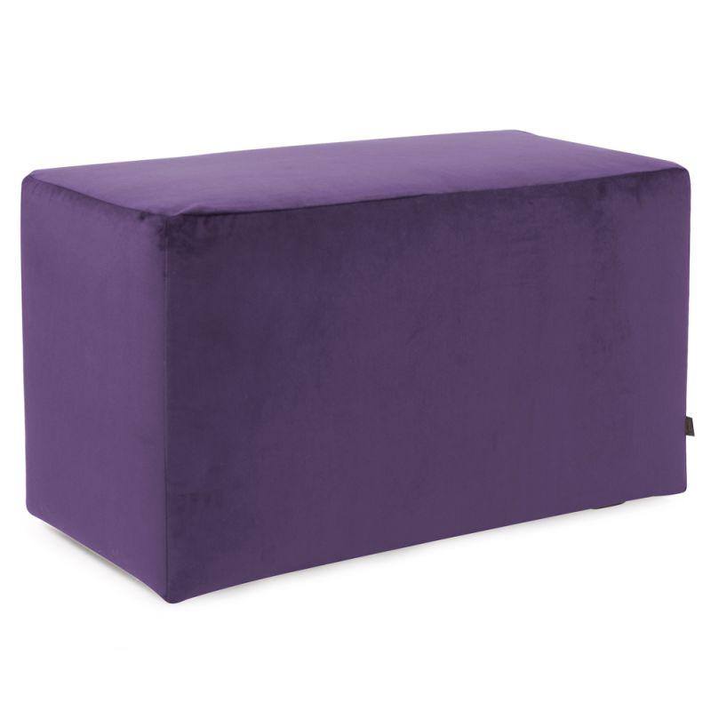 "Howard Elliott Bella Universal Bench 36"" Wide Polyester Bench Eggplant"