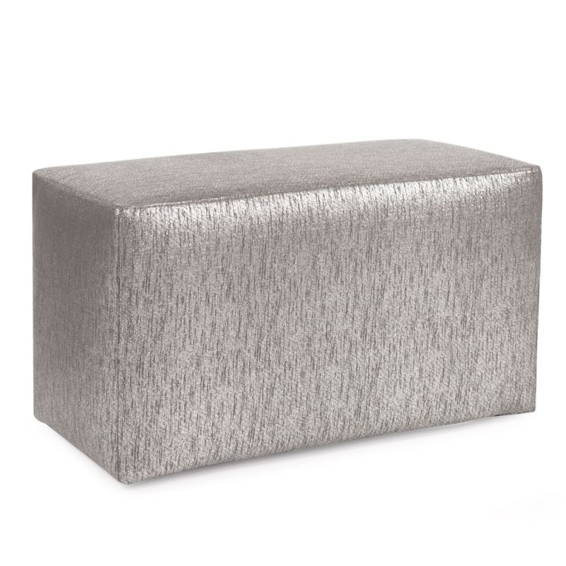 "Howard Elliott Glam Universal Bench 36"" Wide Polyester Bench Pewter"