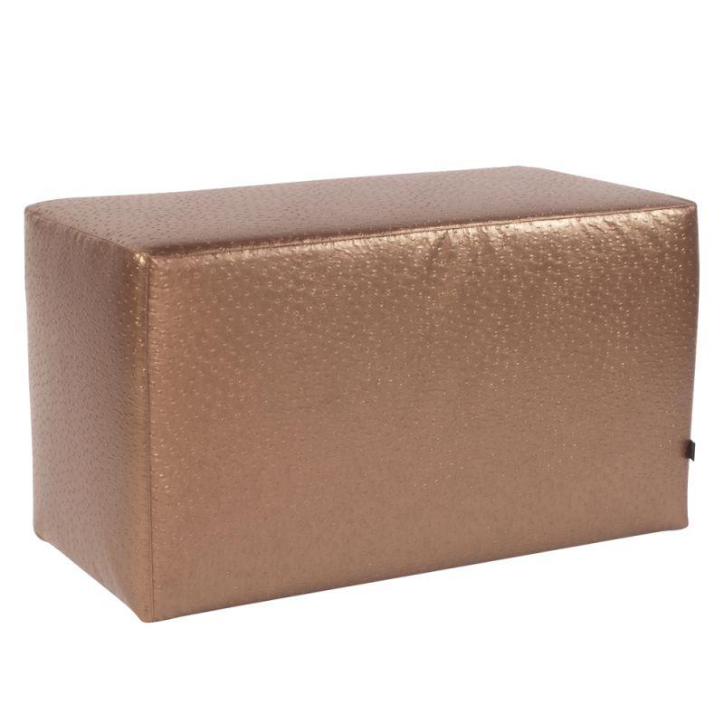 """Howard Elliott Ostrich Universal Bench 36"""" Wide Ostrich Bench Copper"""