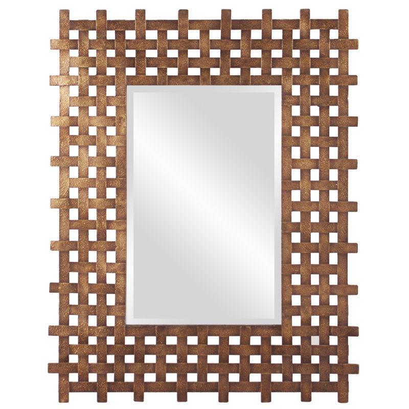 "Howard Elliott 13256 Burma 39"" x 31"" Square Mirror Gold Home Decor"