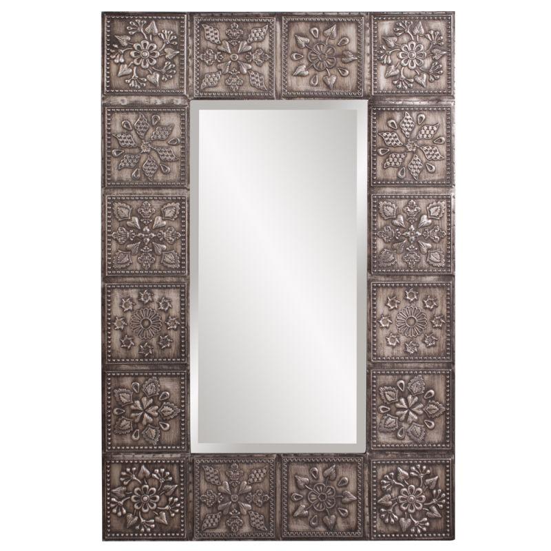 "Howard Elliott 13262 Templar 36"" x 24"" Pewter Mirror Silver Home Decor"