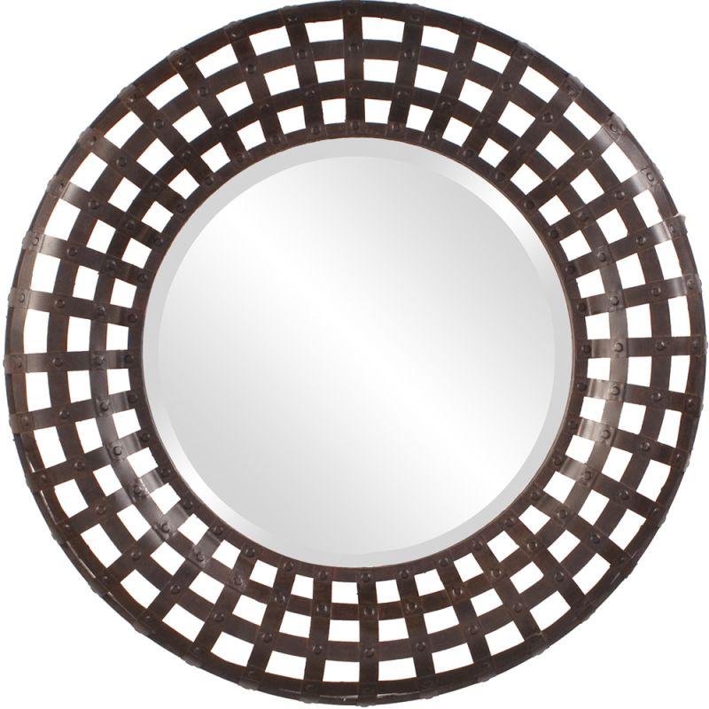 """Howard Elliott 13346 Patrick 36"""" x 36"""" Round Mirror Brass Home Decor"""