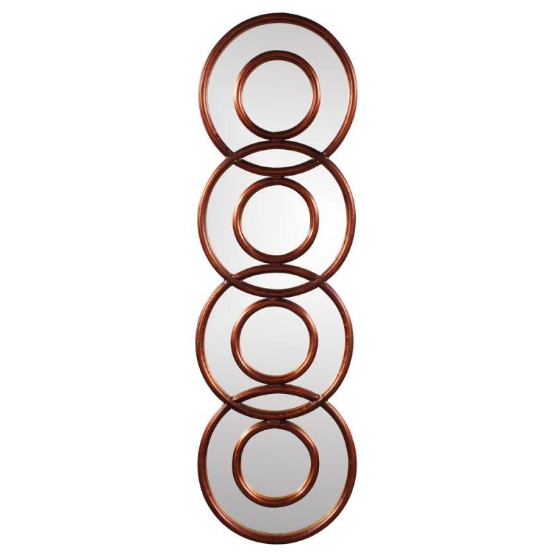 "Howard Elliott 13353 Carnivalle 47"" x 14"" Metal Rounds Mirror Copper"