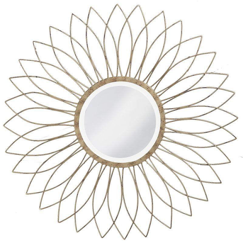 """Howard Elliott 1376-S Charlese 40"""" x 40"""" Round Mirror Gold Home Decor"""