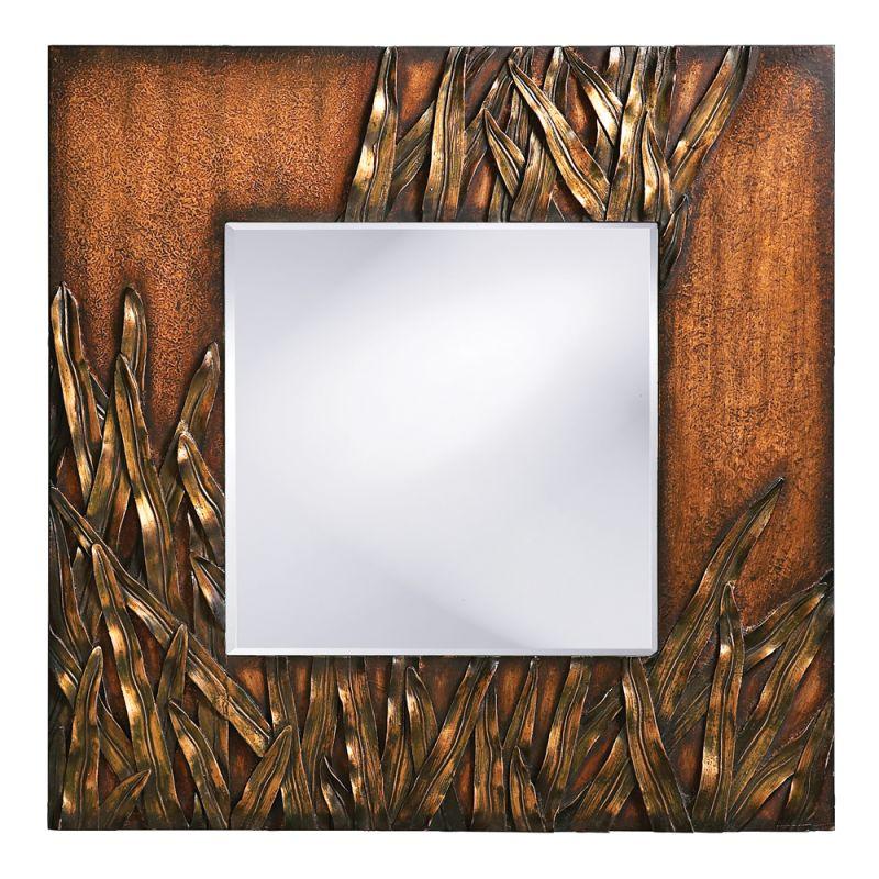 """Howard Elliott 14199 Cameron 30"""" x 30"""" Copper Mirror Copper Home Decor"""
