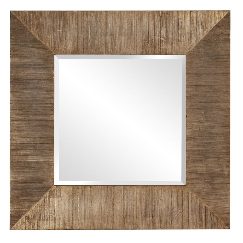 "Howard Elliott 14206 James 30"" x 30"" Reclaimed Wood Mirror Reclaimed"