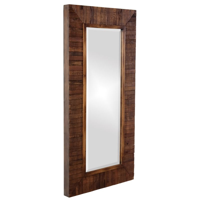 "Howard Elliott 14234 Timberlane 48"" x 24"" Rustic Walnut Mirror Rustic"