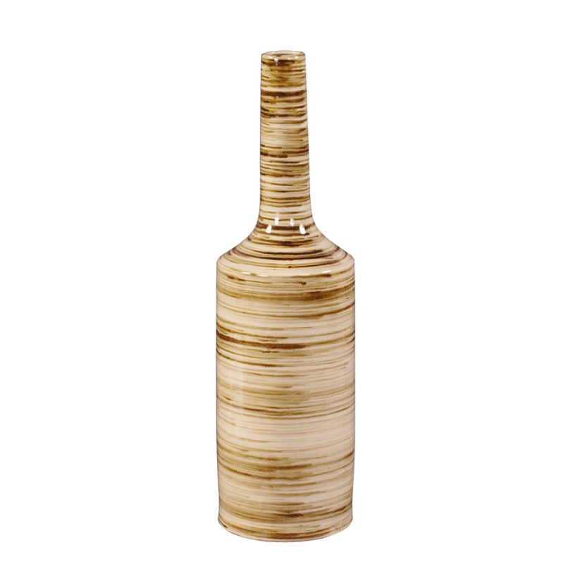 """Howard Elliott Large Beige Glazed Ceramic Vase 29"""" Tall Ceramic Vase"""