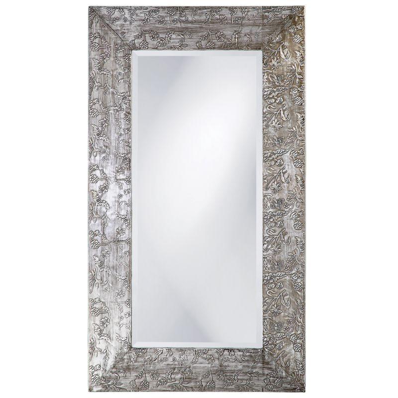 "Howard Elliott 1980 Napier 46"" x 26"" Brushed Silver Mirror Brushed"