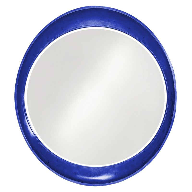 "Howard Elliott 2070RB Ellipse 39"" x 35"" Glossy Royal Blue Mirror"