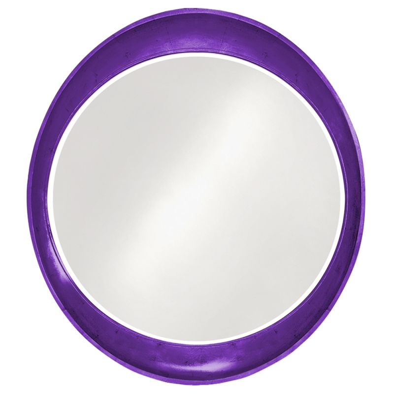 "Howard Elliott 2070RP Ellipse 39"" x 35"" Glossy Royal Purple Mirror"