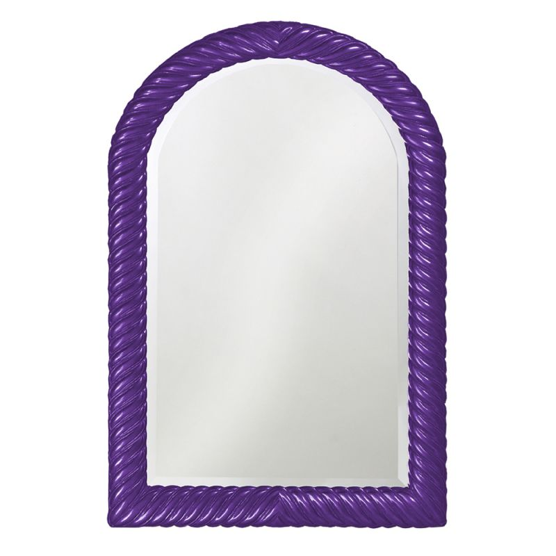 "Howard Elliott 2107RP Montreal 40"" x 26"" Glossy Royal Purple Mirror"