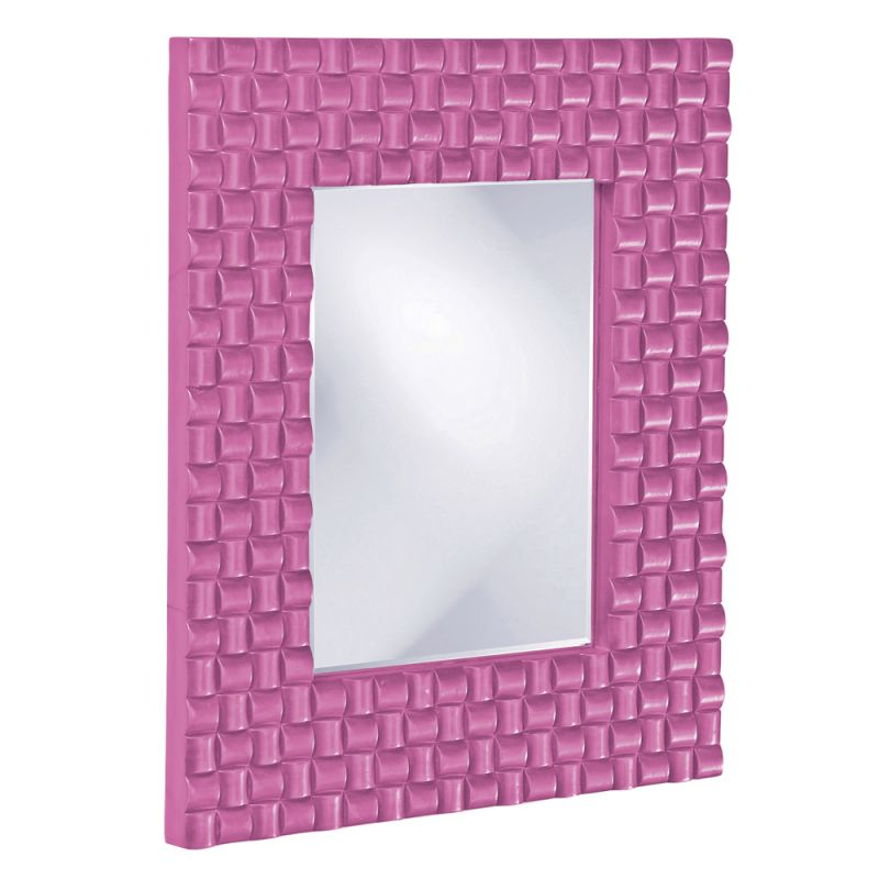 "Howard Elliott 21114HP Justin 26"" x 22"" Hot Pink Mirror Hot Pink Home Sale $209.90 ITEM#: 2700942 MODEL# :21114HP UPC#: 848635014494 :"