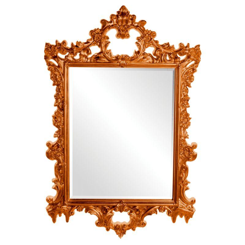 """Howard Elliott 21197O Sherman 47"""" x 31"""" Orange Mirror Orange Home Sale $409.90 ITEM#: 2701025 MODEL# :21197O UPC#: 848635015385 :"""
