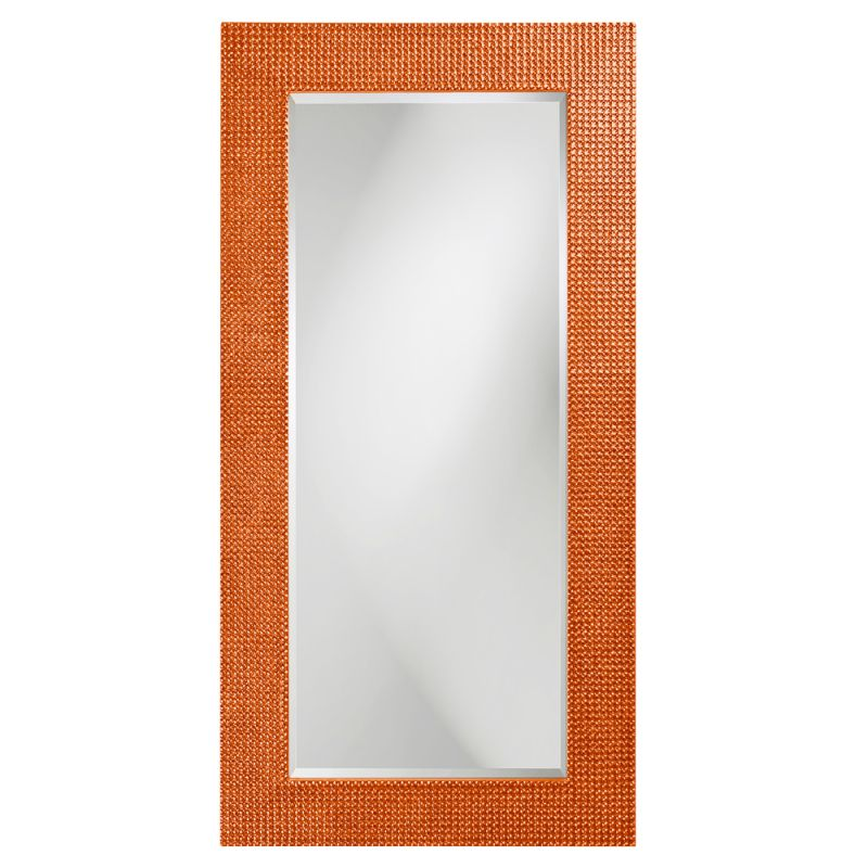 "Howard Elliott 2142O Lancelot 60"" x 30"" Rectangle Glossy Orange Mirror"