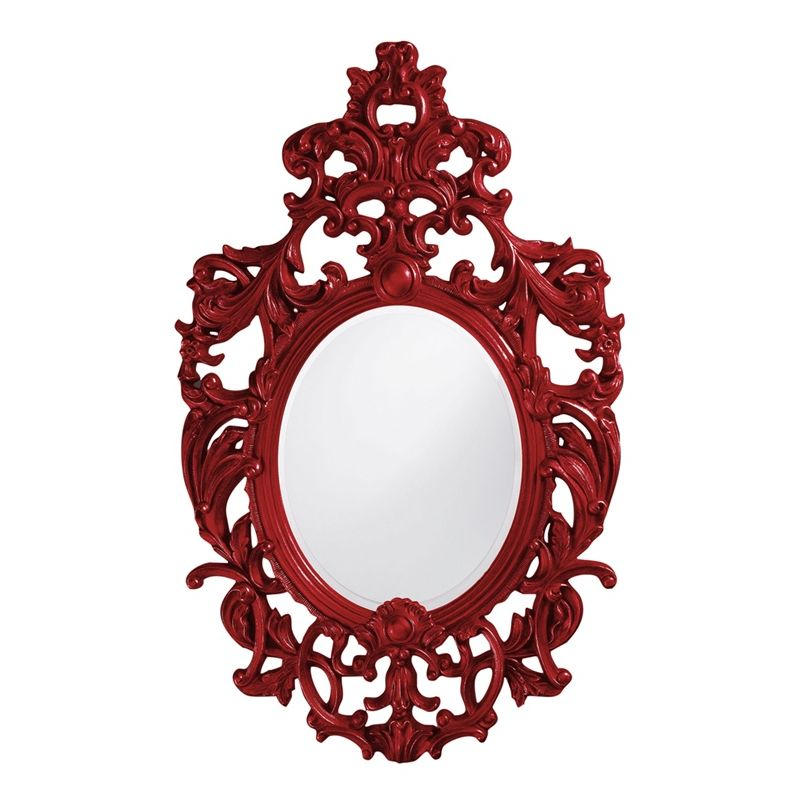 "Howard Elliott 2146R Dorsiere 51"" x 31"" Red Mirror Red Home Decor"