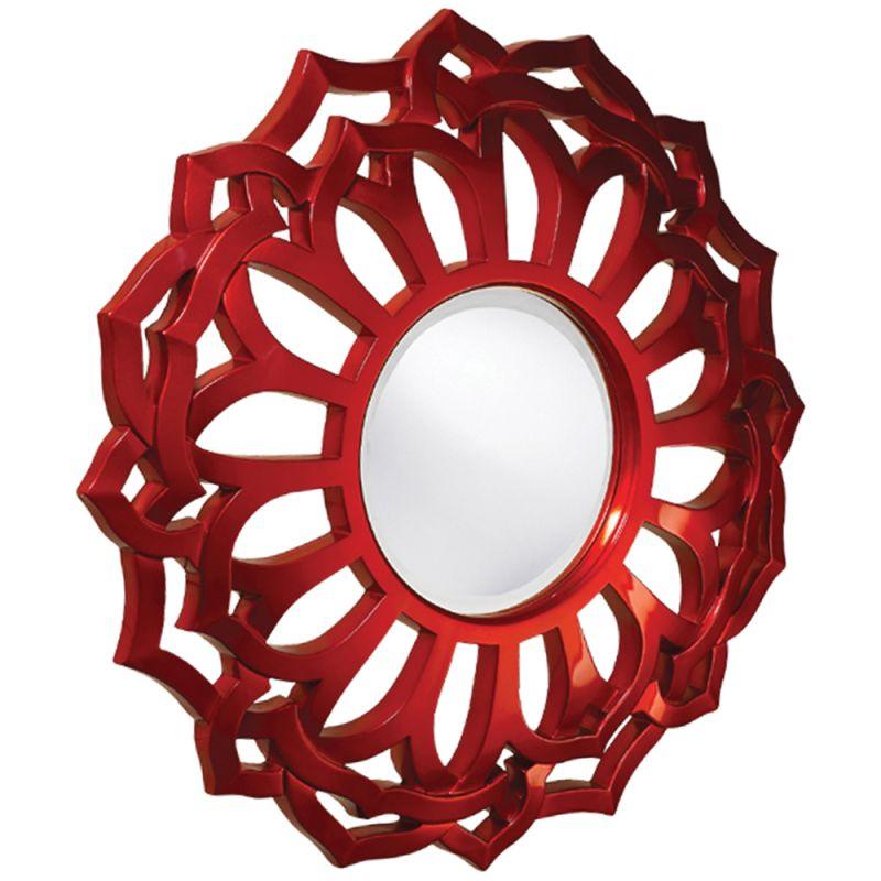 "Howard Elliott 2196 Casey 3"" x 32"" Mirror Red Home Decor Lighting"