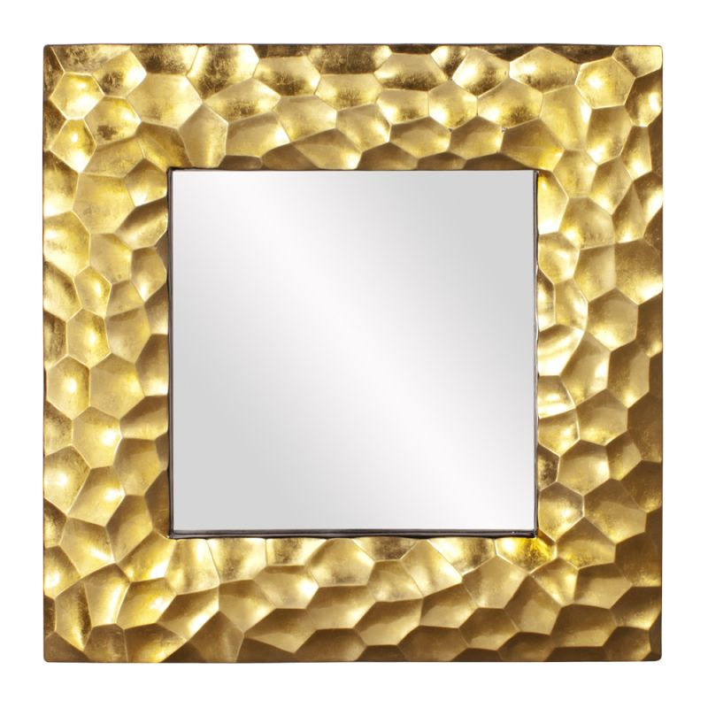 "Howard Elliott 25100 Marley 39"" x 39"" Square Mirror Gold Home Decor"