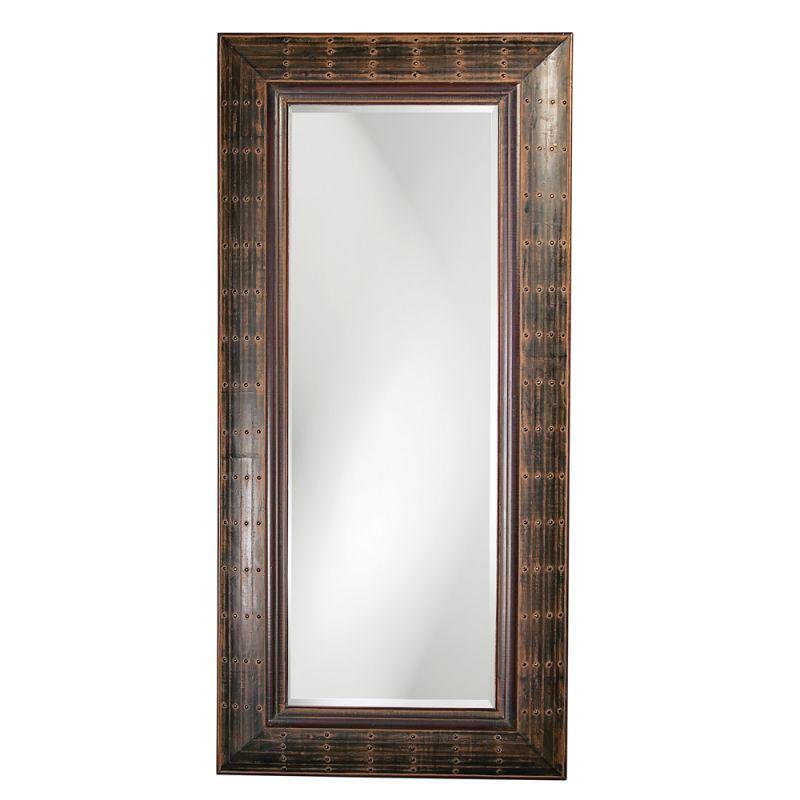"""Howard Elliott 33017 Pamela 84"""" x 40"""" Oversized Leaner Mirror Brass"""