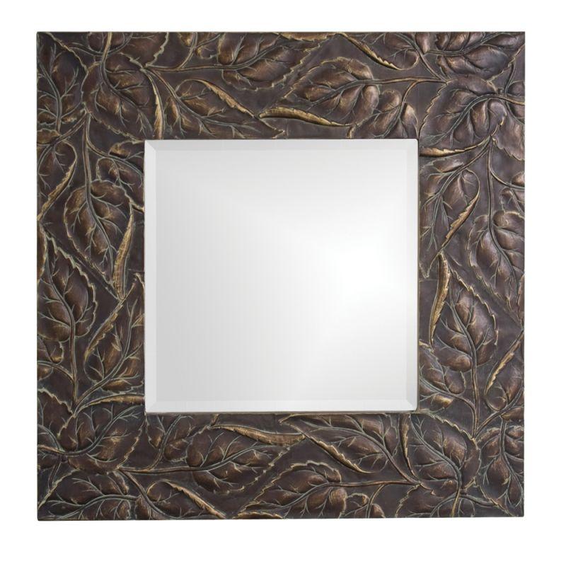 "Howard Elliott 37041 Vines 31"" x 31"" Square Mirror Brass Home Decor"