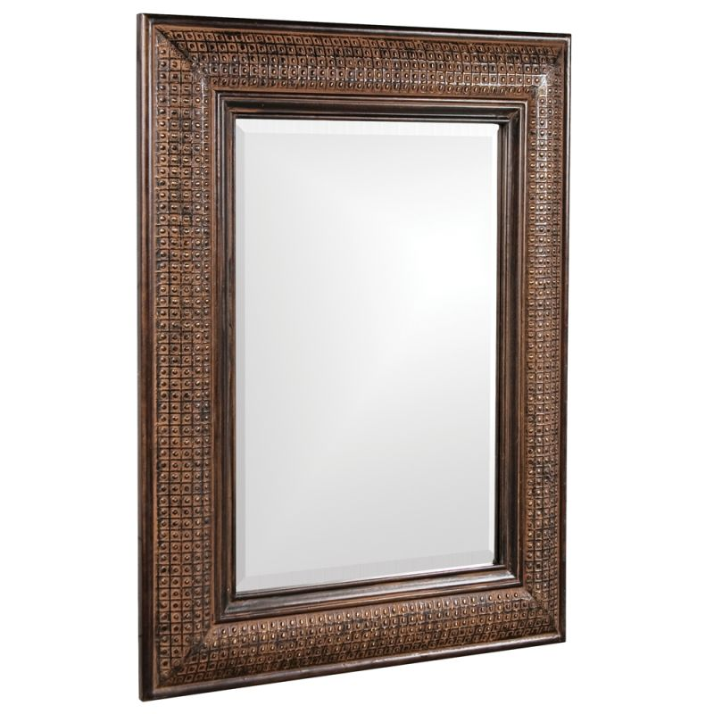 "Howard Elliott 37045 Grant 39"" x 31"" Antique Brown Mirror Antique"