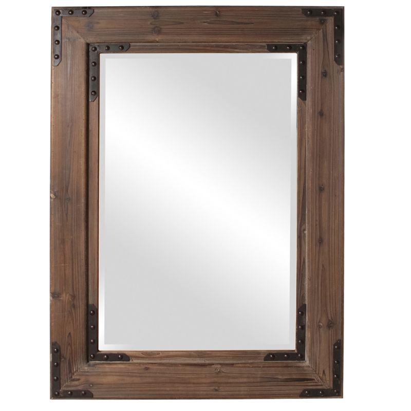 "Howard Elliott 37068 Caldwell 47"" x 34"" Wood Mirror Brown Home Decor"