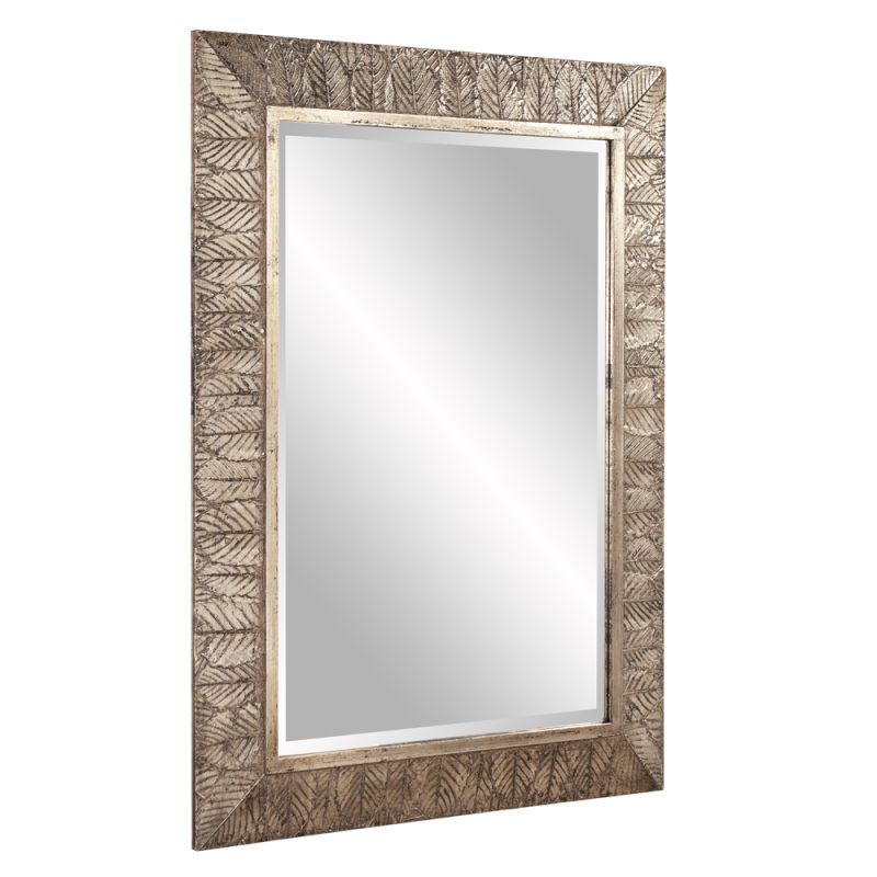 "Howard Elliott 37152 Elrond 45"" x 33"" Silver Leaf Mirror Gold Home"