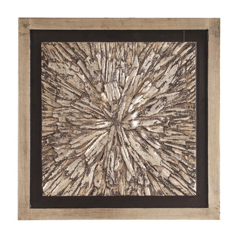 Howard Elliott 37154 Wall Art Bark Textured Champagne Color with Black