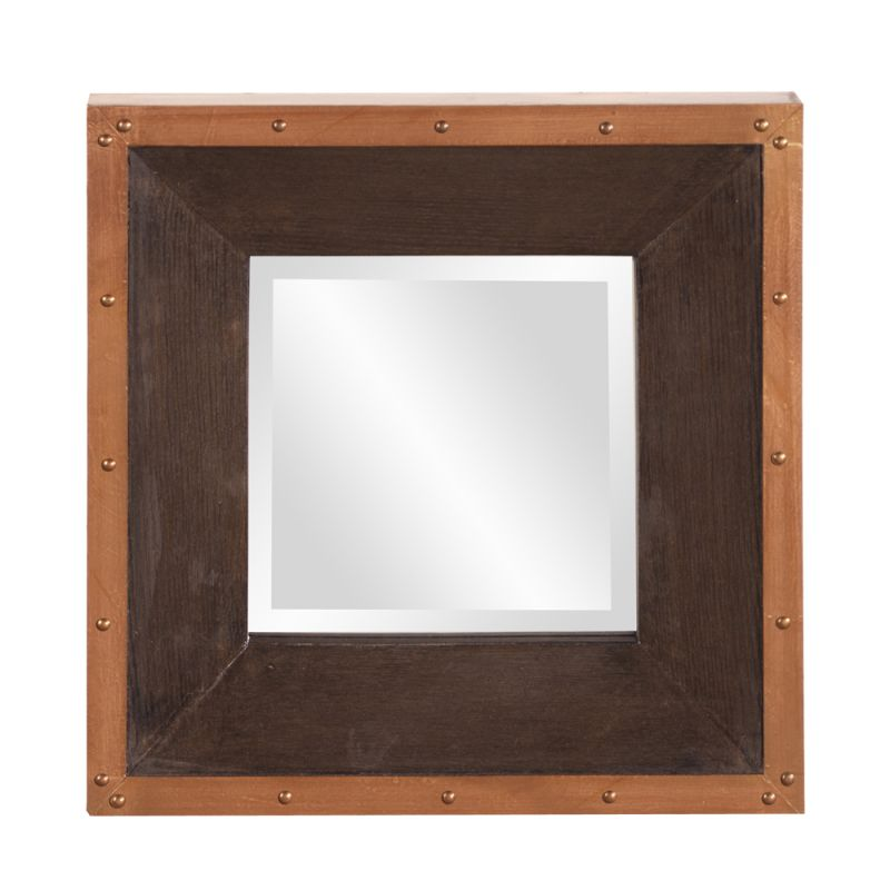 "Howard Elliott Blaze Square Mirror 14"" x 14"" Square Mirror from the"